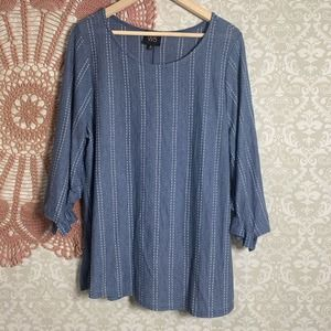 5/$25 W5 Ruffle Sleeve Dot Stripe Blouse